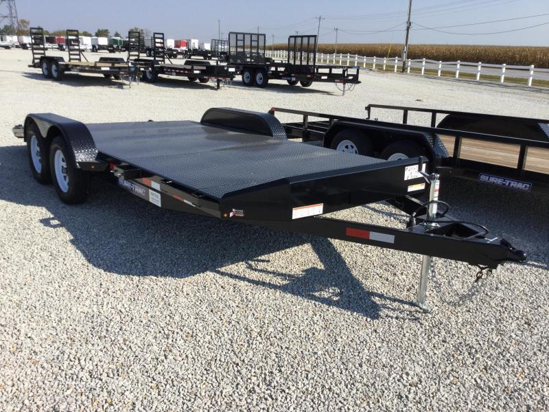 2017 Sure-Trac 7 x 18 Steel Deck Car Hauler 7k