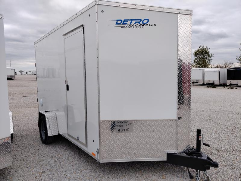 2021 Cargo Express White 7X12 Enclosed Cargo Trailer
