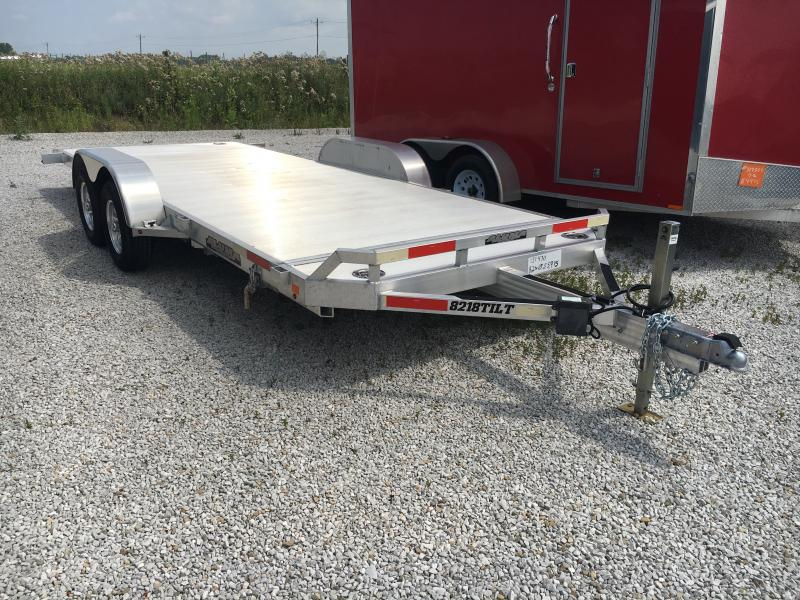 USED 2017 Aluma 8218TILT Equipment Trailer