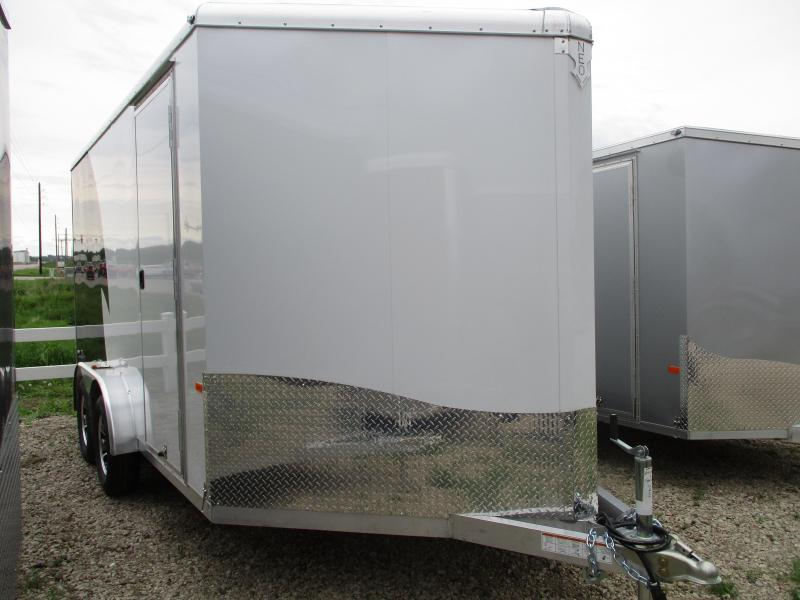 2019 NEO Trailers 7.5x14 Aluminum Tandem Axle Enclosed Cargo Trailer