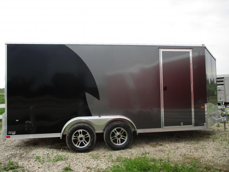 2019 NEO Trailers 7.5x16 Aluminum Tandem Axle Enclosed Cargo Trailer