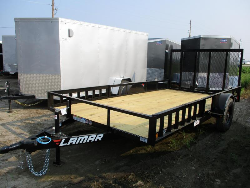 2019 Lamar Trailers 83x14 Single Axle Utility Trailer