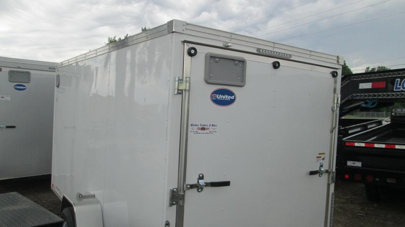 2017 United Trailers 6x12 Single Axle Enclosed Cargo Trailer