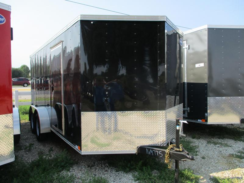 2020 United Trailers 7x16 Tandem Axle Enclosed Cargo Trailer