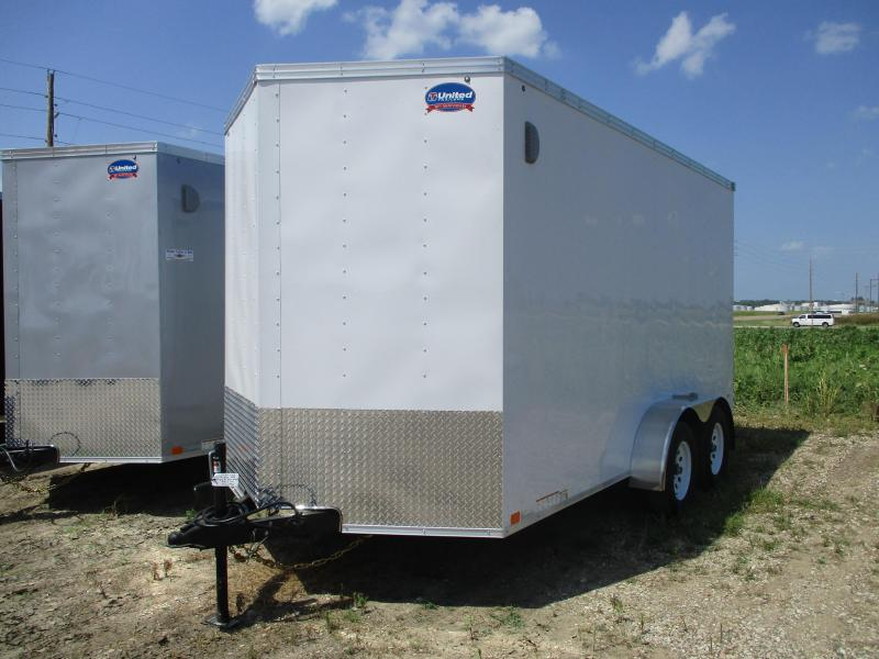 2019 United 7x14 Tandem Axle Enclosed Cargo Trailer
