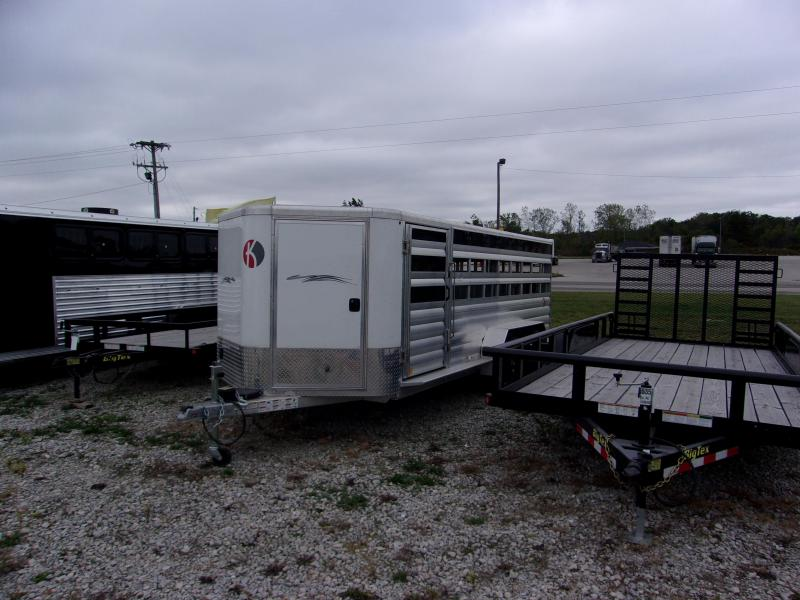 2015 Kiefer Built 18 Low pro Livestock Trailer