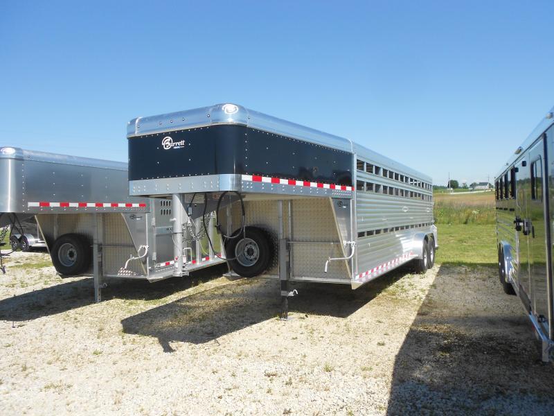 2017 Barrett Trailers SMOOTH SLASIDE GN TAPERED NOSE Livestock Trailer