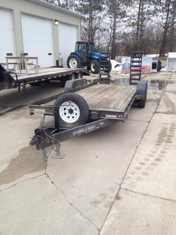 2011 Sure-Trac 20' Flatbed Bumper Pull Trailer