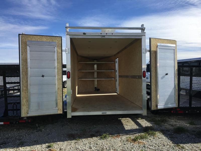 Price Reduced! 2018 EZ Hauler Contractor  7 X 16 Enclosed Cargo Trailer