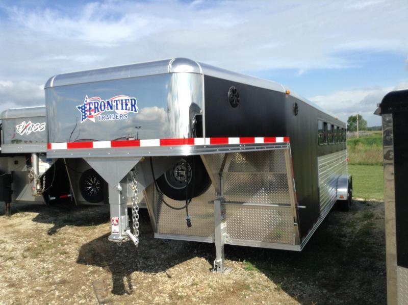 2017 Frontier STK LP 7X26 DDFW Livestock Trailer