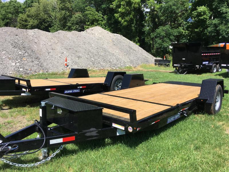 2019 Sure-Trac ST78124SATE-B-078 Gravity Tilt Flatbed Trailer