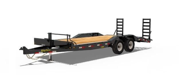 2017 Big Tex 14DF-20BK Equipment / Car Trailer