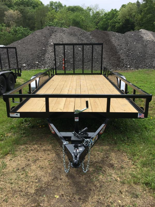 2019 H and H Trailer 82X16 STL RAILSIDE TANDEM 7K