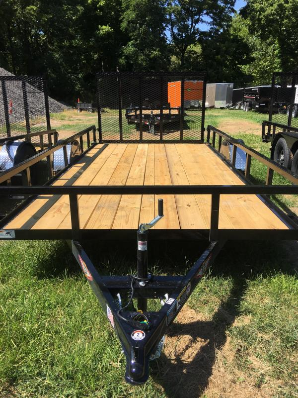 2020 H and H Trailer 82x14 Rail Side Utility Trailer