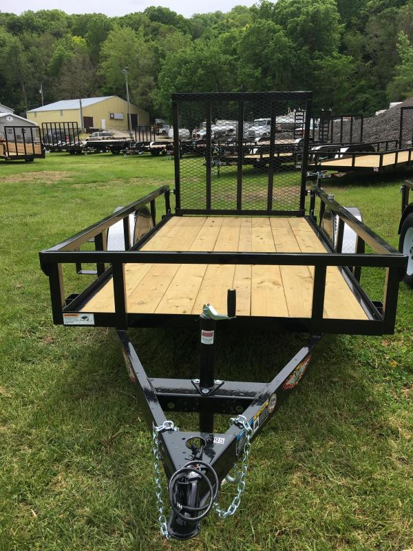 2019 H and H Trailer 60X10 STEEL RAIL SIDE 3.5K