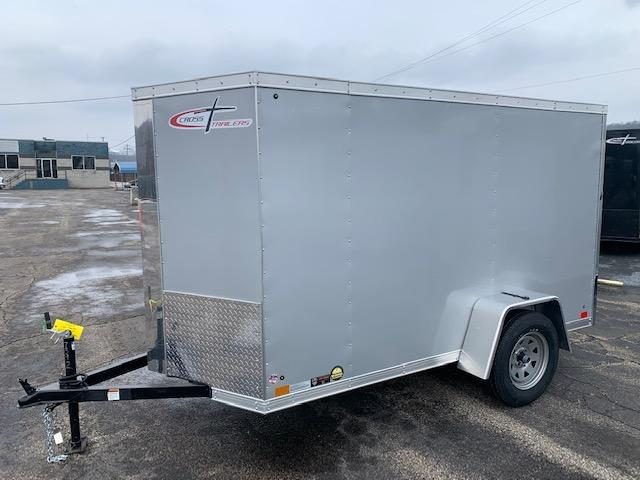 2019 Cross Trailers 5X10 Single Axle Alpha Series V Front Enclosed Cargo Trailer