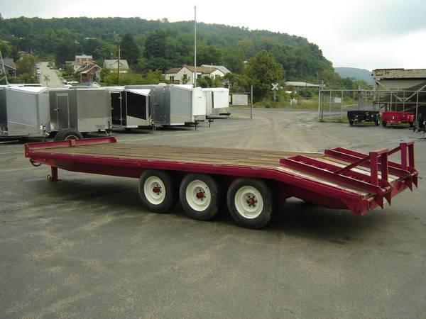 1999 Winston 8.5 X 22 Equipment Trailer