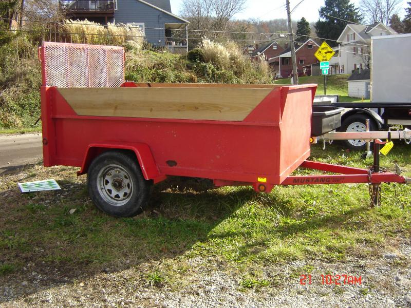 USED 2008 5x8 Mustang Utility Trailer