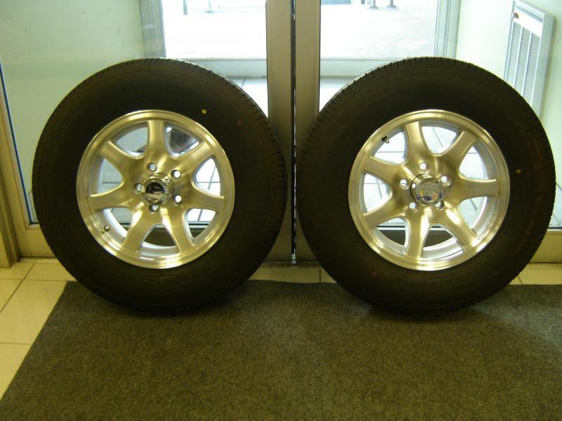 Aluminum 7 Spoke Wheel Set