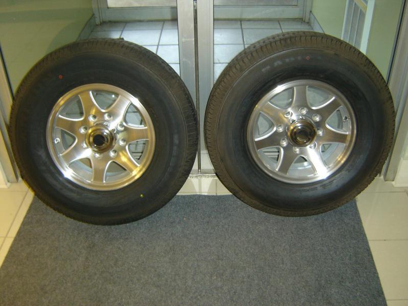 Aluminum Seven Spoke (8 Bolt) Wheel Set of 2