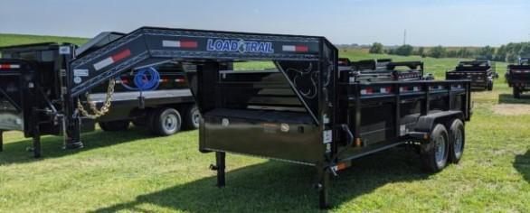 "Load Trail 83"" x 16' Gooseneck Dump Trailer"