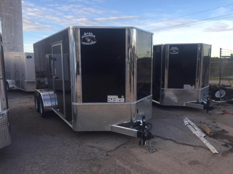 2018 Other 7x16 Black Contractor V Enclosed Cargo Trailer