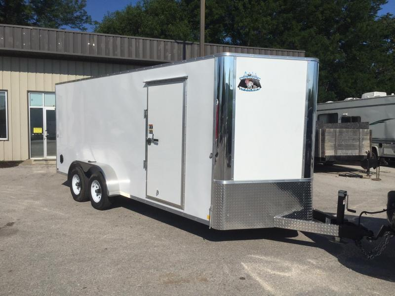 2019 R and M Manufacturing 7.18.10K.White Enclosed Cargo Trailer