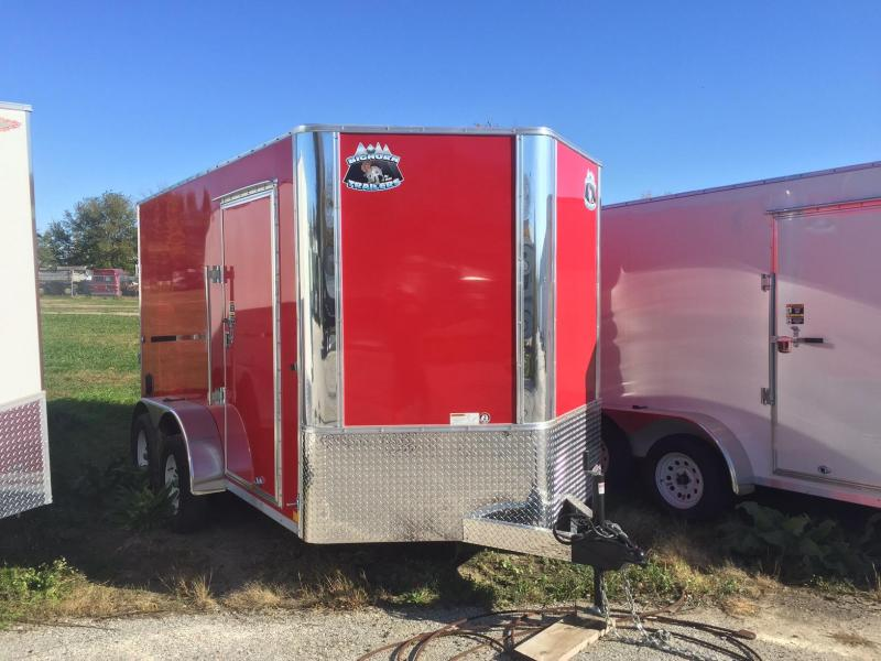 2018 Other 7x12 Big Horn Contractor Red Enclosed Cargo Trailer