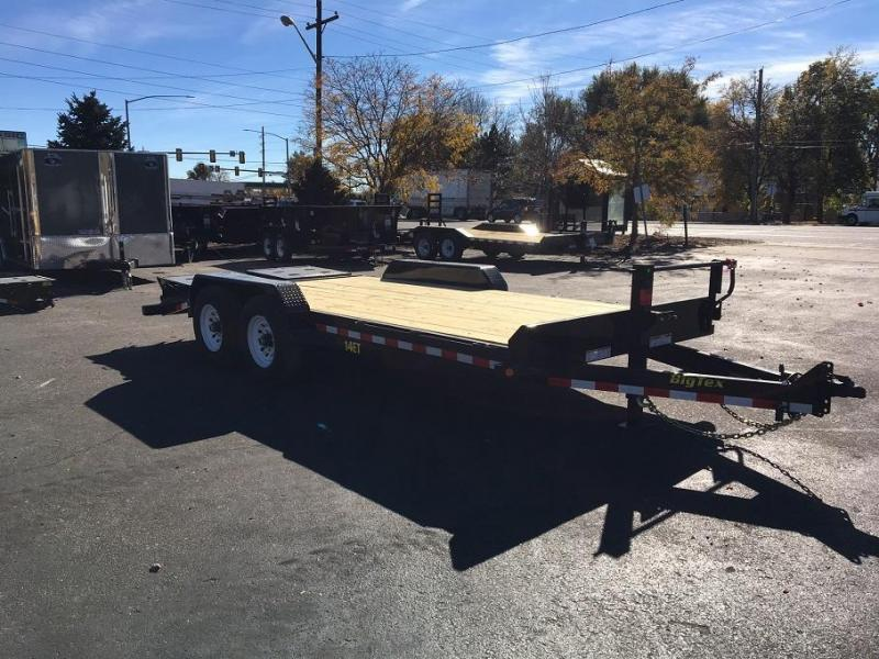 2018 Big Tex Trailers 1ET-18 with Mega Ramps Equipment Trailer-CO SPRINGS