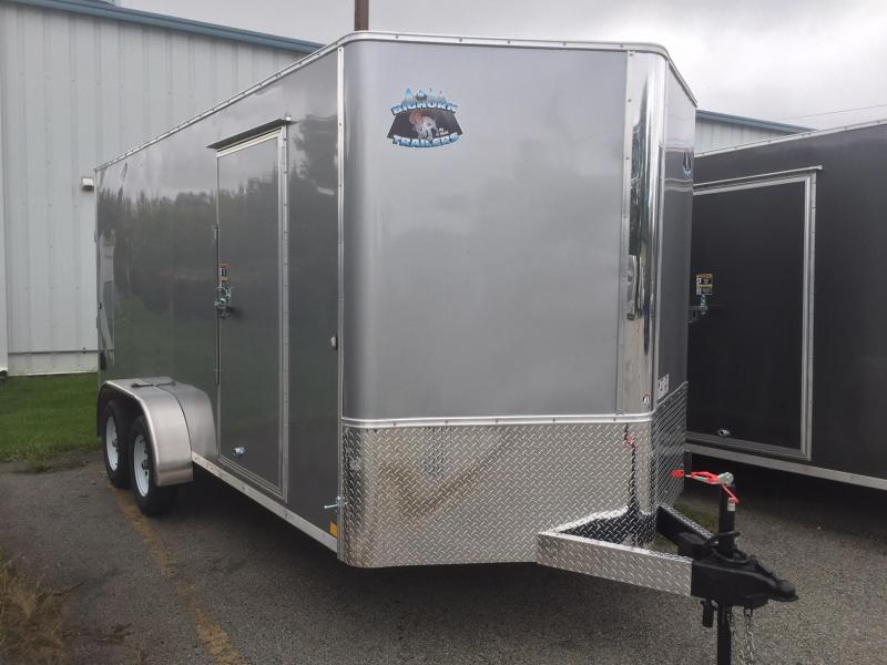 2019 R and M Manufacturing 7x16 TAS Silver Enclosed Cargo Trailer