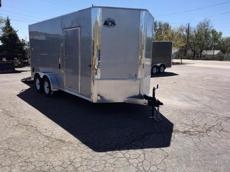 2019 RM Manufacturing EC 7 16 TA (CONTRACTOR GRADE) Enclosed Cargo Trailer-WHEAT RIDGE