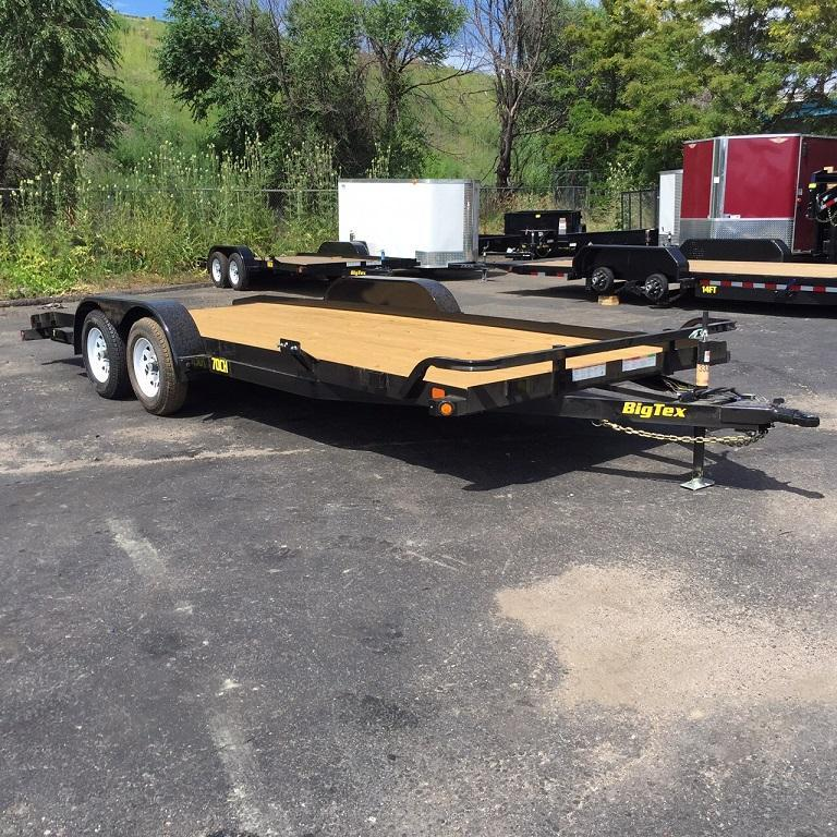2017 Big Tex Trailers 70CH-20 W/DOVETAIL Car / Racing Trailer-WHEAT RIDGE