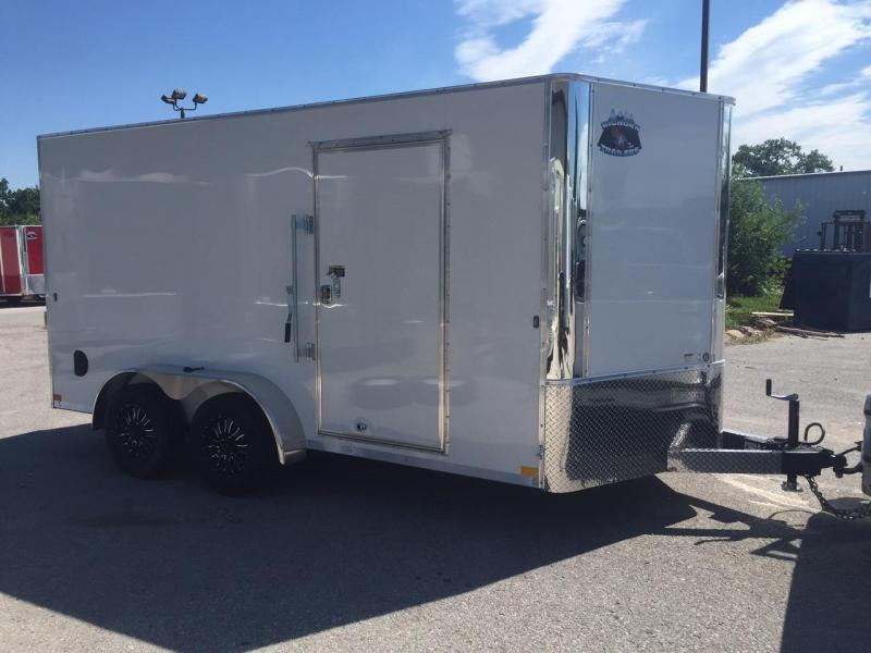 2018 Other 7X14 Big Horn White Contractor Enclosed Cargo Trailer