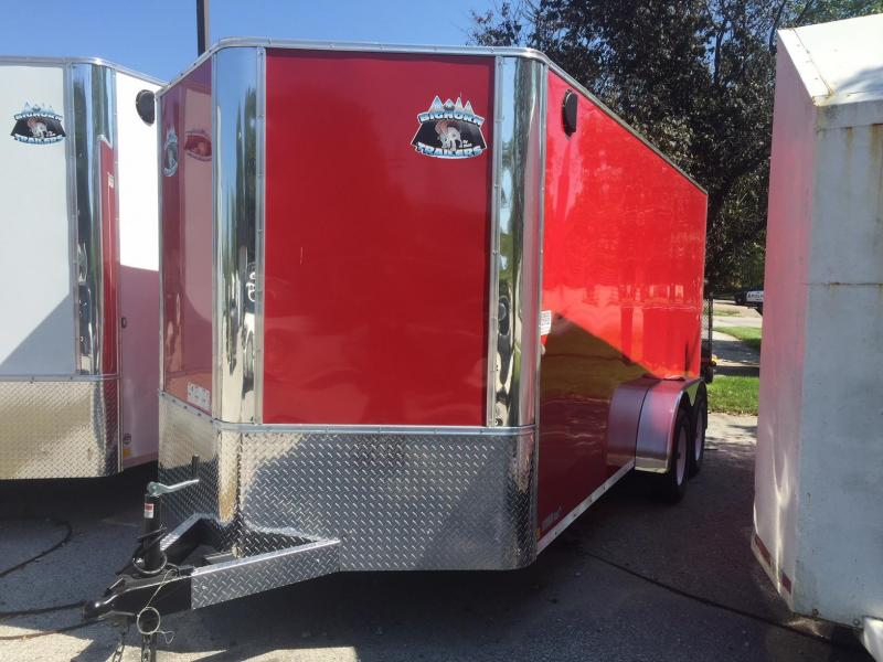 2019 R and M Manufacturing EC 7 16 TA RED Enclosed Cargo Trailer