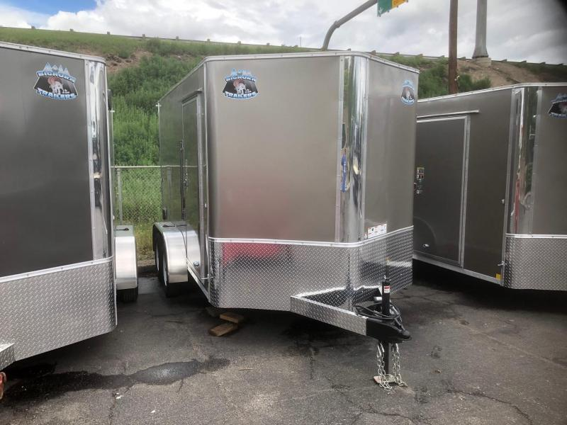 2020 R&M 7x12 v-nose (TAS) Enclosed Cargo Trailer-Wheat Ridge