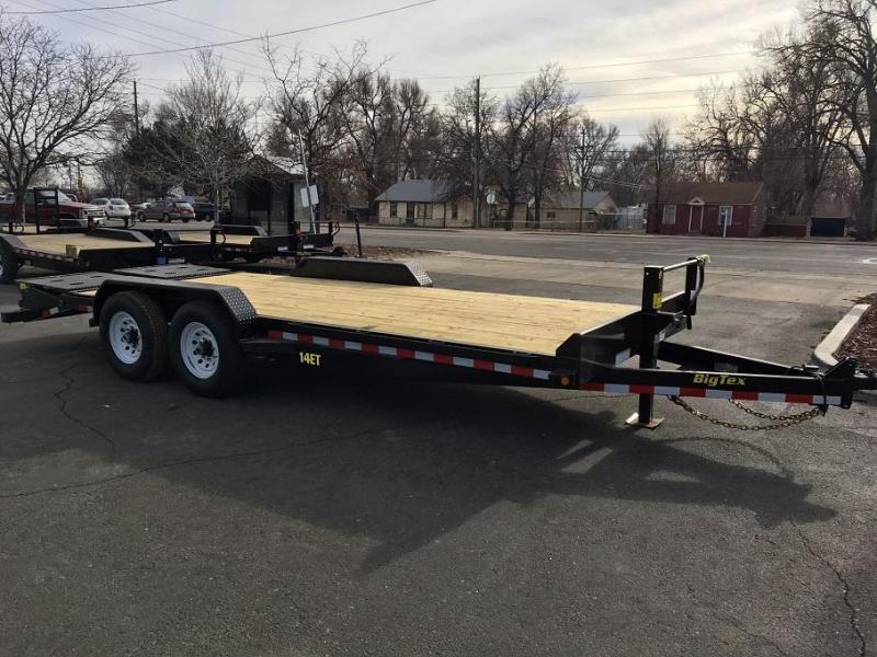 2017 Big Tex Trailers 14ET-20 W/MEGA RAMPS Equipment Trailer-WHEAT RIDGE
