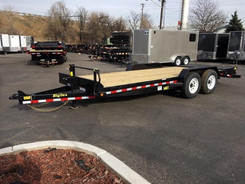 2018 Big Tex Trailers 14ET-20 With Mega Ramps Equipment Trailer-CO SPRINGS