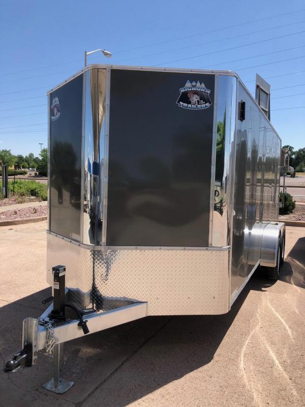 2019 R and M Manufacturing EC 7 16 TA (CONTRACTOR GRADE) Enclosed Cargo Trailer-CO SPRINGS