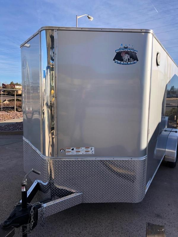 2019 R&M Manufacturing EC 7 16 TAS White Enclosed Cargo Trailer