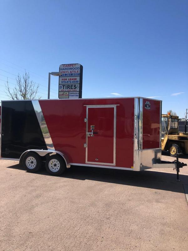 2020 R&M 7X16 v-nose Enclosed Cargo Trailer-CO Springs