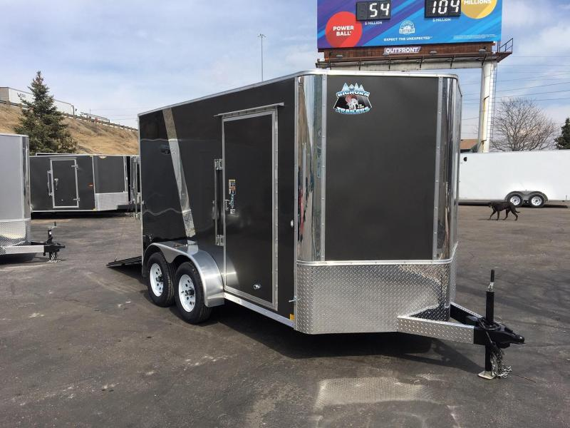 2020 R&M 7x12 v-nose TAC Enclosed Cargo Trailer-Wheat Ridge