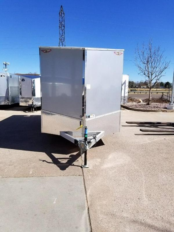 2017 H and H Trailer 7X16 ALLUMINUM Enclosed Cargo Trailer-CO SPRINGS