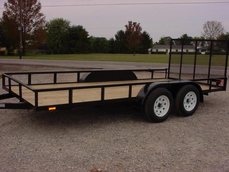 2019 American Manufacturing Operations (AMO) 6 X 16 UT TANDEM Utility Trailer