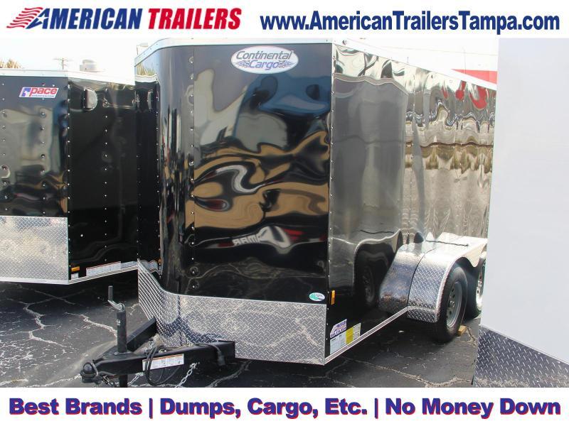 6x12 Continental Cargo   Enclosed Trailer [Black]