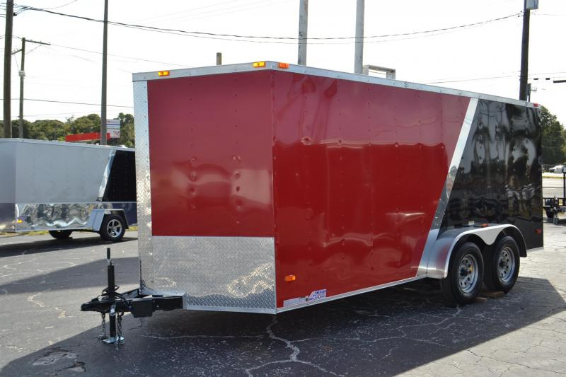 7x16 Red and Black Red Hot Trailers | *Enclosed*Trailer*Trailers