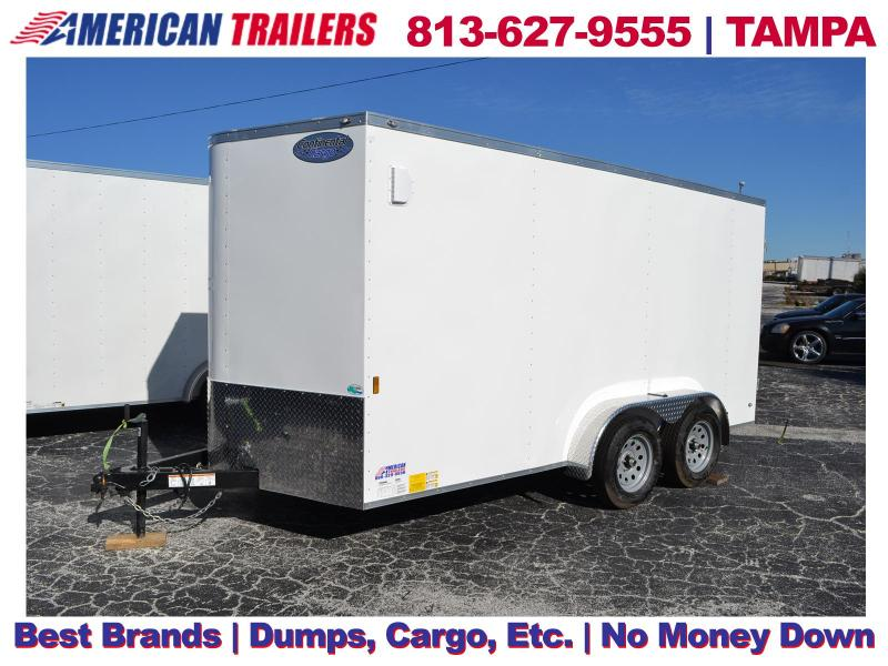 7x14 Continental Cargo Trailers | Enclosed Trailer with Rear Barn Doors