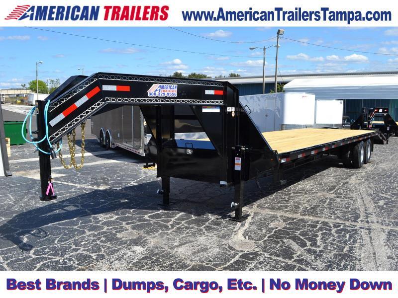 8.5x32 Lamar Trailers | Gooseneck Equipment Trailer [Deck-Over]
