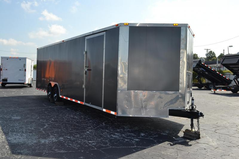 2011 8.5x28 Freedom Trailers | *Enclosed*Trailers*Trailer Pewter