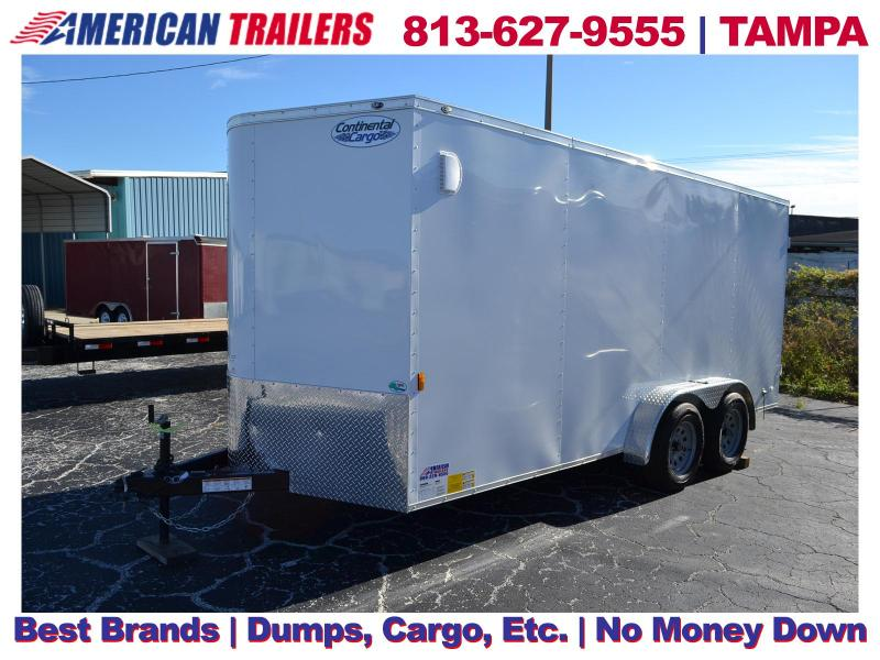 7x16 Continental Cargo Trailers | Enclosed Trailer with Rear Barn Doors