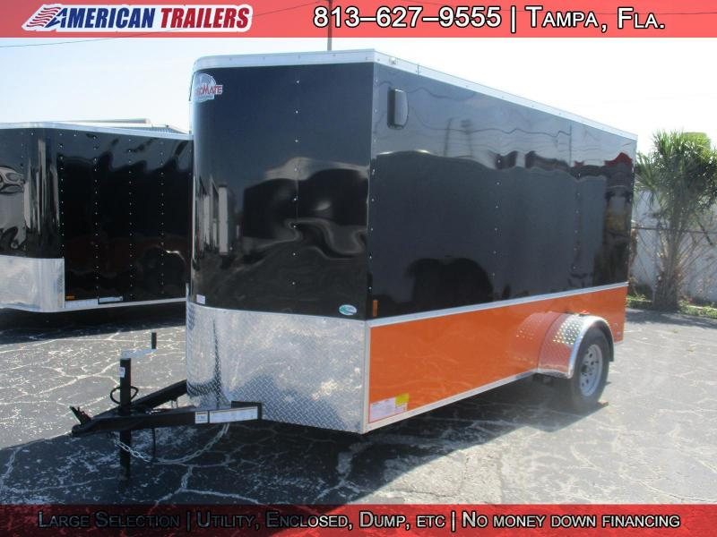 6x12 Cargo Mate | Enclosed Trailer [Black and Orange]